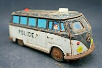 Jouet Ancien Camion Van VW POLICE a Friction ICHIKO