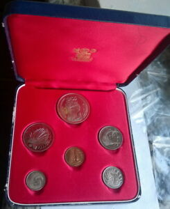 Singapore 1967 Animal Royal Mint Box Set of 6 Coins,Proof