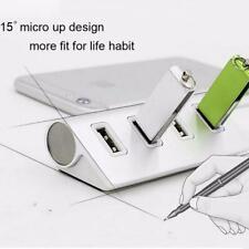 4Port USB3.0 Multi HUB Splitter Aluminium Adapter High Speed Für PC Mac LOT TF