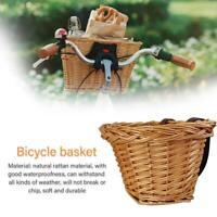 Childrens Wicker Bicycle Waterproof Shopping Basket For Kids Boys Girls Bike