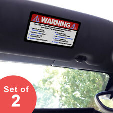 Small - Warning Funny Safety Rules - Visor Sticker Set for MINI Cooper