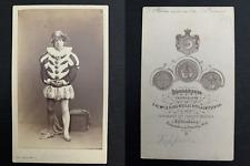 Bergamasco, St Pétersbourg, Dieudonné, acteur Vintage albumen print. CDV.Alpho