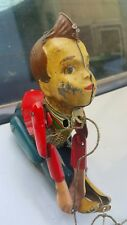 VINATGE TIN TOY CLIMBING BOY WIND UP MECHANICAL PREWAR GERMANY DDR GDR MAX 709