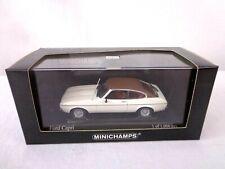 Minichamps 1974 Ford Capri II 1/43 Scale White Car Boxed Rare
