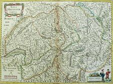 Janssonius - SCHWEIZ Nova Helvetiae Tabu - Kupferkarte 1635