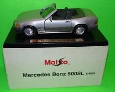 MERCEDES-BENZ 500SL 1989 1;18 SCALE MAISTO  SPECIAL BOX  EDITION MINT IN BOX