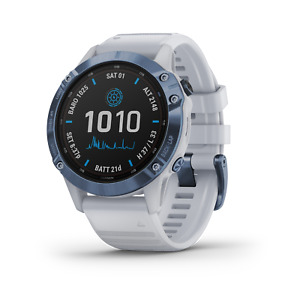 Garmin Fenix 6 Pro Solar Premium Multisport GPS Smartwatch Mineral Blue