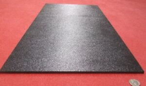 """Black ABS Sheet 1/4"""" (.236"""") X 12"""" X 24"""" Haircell Textured One Side"""