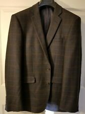 Lanificio F.lli Cerruti Oxygen (Moss Broth.) Men's Casual Wool Blazer, 40R Slim