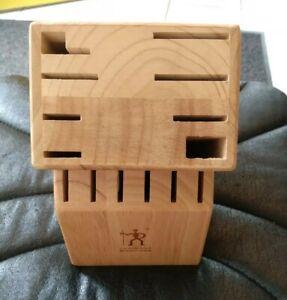 J.A. Henckels Knife Block 14 Slot Wood Wooden Kitchen *Block Only