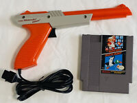 NES Duck Hunt Gun Orange Zapper + Duck Hunt / Super Mario Bros. Game Cartridge