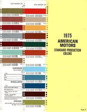 1975 AMC HORNET GREMLIN MATADOR PACER SPIRIT 75 PAINT CHIPS SHERWIN WILLIAMS 4
