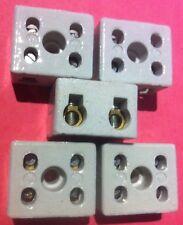 5 x 2Way 2Pole isolanti PORCELLANA blocco morsetto Connettore 15A heatproof 15AMP