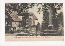 Edna Lyalls Grave & Old Cross Bosbury Vintage Postcard  166a