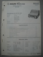 PHILIPS n6d31t Autoradio Service Manual, edizione 10/62