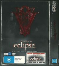 ECLIPSE FROM TWILIGHT SAGA KRISTEN STEWART ROBERT PATTINSON NEW 3 DVD BOXED SET