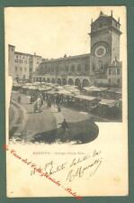 Lombardia. MANTOVA. Piazza Erbe. Cartolina d'epoca viaggiata nel 1903.