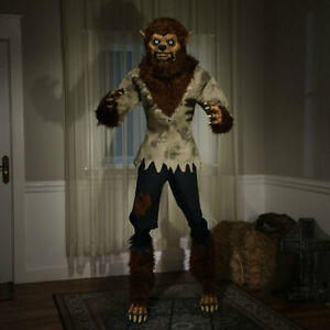 Halloween 6ft 2 Inches (190cm) Animated Werewolf with LCD Eyes & Moving Mouth