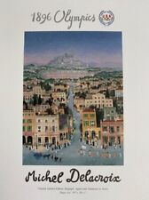 Athens 1896 - 1996 - Olympic Postcard - 1996 - Atlanta - Michel Delacroix