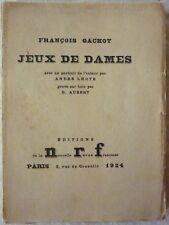 François GACHOT - Jeux de dames (1924 - E.O. - Ex. de passe s/Japon)