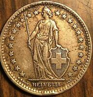 1948 SWITZERLAND 2 FRANCS HELVETIA COIN PIÈCE DE SUISSE