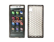 Funda Carcasa De Silicona Gel Negro Diamante ~ LG GD880 Mini
