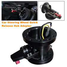 Car Steering Wheel Hub System Quick Release Hub Adapter Base Connect Kit Black