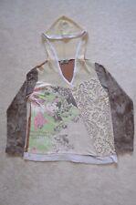 Vanilla Sugar Top Women's Multi-Color Velvet Design Hoodie Shirt - Size L EUC