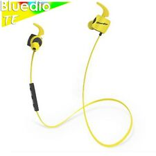 Bluedio TE Bluetooth 4.1 Wireless Sports Earphones Cordless Headphones, Yellow
