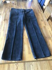Vintage Men's Yves SAINT LAURENT Black Corduroy Pants Jeans - Size 36 x 30