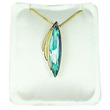 Paua Jewelry - Gold Plated Drop Necklace (PGP879)
