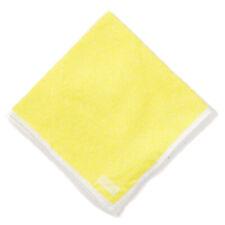 NWT RODA Textured Lemon Yellow Pocket Square with White Border