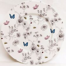 "Secret Garden Plates Set of 6 Fine Bone China 8"" 20 cm Plates Decorated UK"