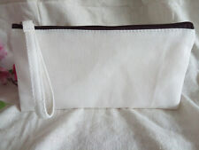 10x Eco Handcraft Blank Canvas Cosmetic Makeup bag DIY Pencil Case Phone Pouch