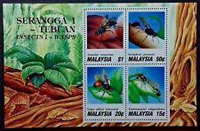 Malaysia 1991 Serangga I - Tebuan Insect 1 - Wasps Stamp S/S