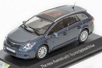 Toyota Avensis Estate Blue, dealership model, Minichamps 1:43 scale, car gift