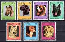 Chiens Laos (17) série complète de 7 timbres oblitérés