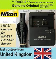 Genuine Original NIKON MH-23 Charger EN-EL9 EN-EL9A  D40  D40X  D60 D3000  D5000