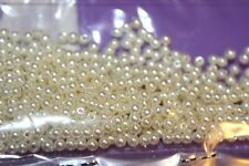 Fly Tying 3mm White acrylic pearl beads, 25