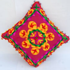 Vintage Embroidered Pillow Cases Suzani Cushion Cover Square 16x16 Handmade T035