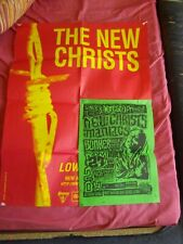 NEW CHRISTS - LOWER YOURSELF PROMO POSTER + FRENCH GIG POSTER - RADIO BIRDMAN