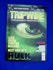 Tripwire vol5 no 3 July 2003: UK comics, music, media magazine.