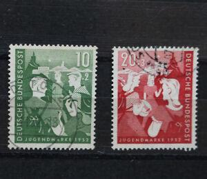 Briefmarken Satz Jugend Zweiter Bundesjugendplan 1952  Michl Nr. 153 - 154