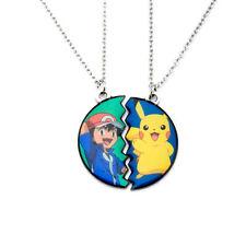 Pokemon Pikachu & Ash Ketchum BF Pendant Stainless Steel Necklace