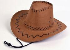 Mickys Cowboyhut braun für Kinder NEU - Karneval Fasching Hut Mütze Kopfbedeckun