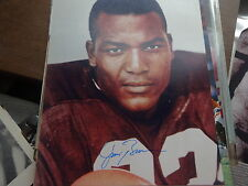 SIGNED JIM BROWN 8X10 CLEVELAND BROWNS