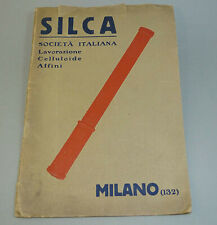 1920s Small Italy Catalog Bicycle Bike SILCA Celluloid Handlebar Grips, Pumps