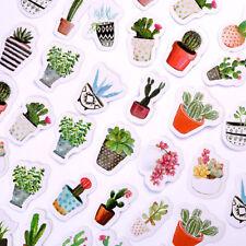 45 Pcs/Pack Cactus Succulents Paper Stickers Pot Green Plants Stick Label DIY
