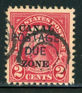 CANAL ZONE Used Postage Due Selections: Scott #J16 2c Carmine (1925) CV$7+
