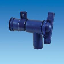 BLUE 28MM WATER / WASTE DRAINAGE TAP,FOOD SAFE, CARAVAN, MOTORHOME,